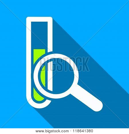 Explore Chemical Test Flat Long Shadow Square Icon