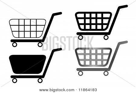 Illustration Of Shopping Carts Are Isolated On White Background