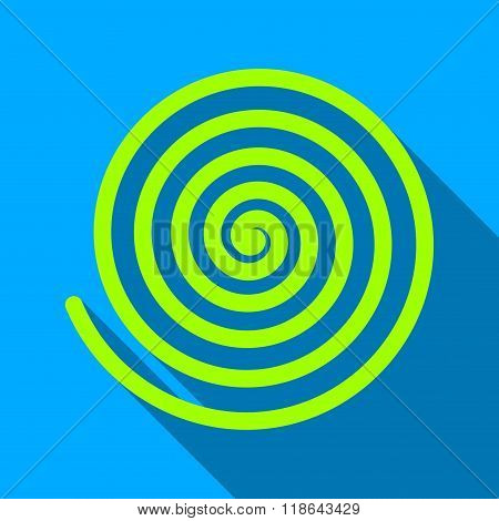 Hypnosis Spiral Flat Long Shadow Square Icon