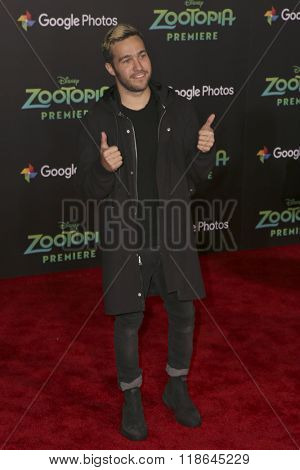 LOS ANGELES - FEB 17:  Pete Wentz at the Zootopia Premiere at the El Capitan Theater on February 17, 2016 in Los Angeles, CA