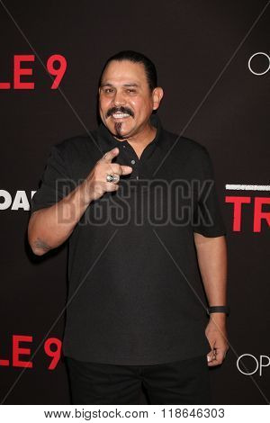 LOS ANGELES - FEB 16:  Emilio Rivera at the Triple 9 Premiere at the Regal 14 Theaters on February 16, 2016 in Los Angeles, CA
