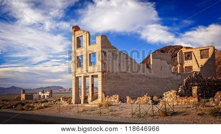 Rhyolite Ghost Town Bank Ruins
