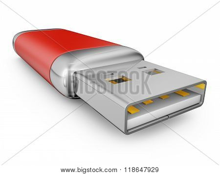 Usb Drive Of Red Color