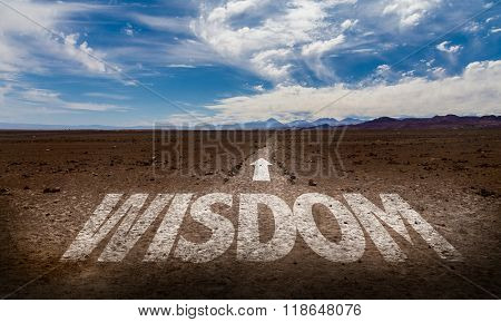 Wisdom written on desert road