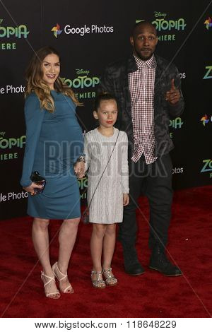 LOS ANGELES - FEB 17:  Allison Holker, Stephen 'tWitch' Boss at the Zootopia Premiere at the El Capitan Theater on February 17, 2016 in Los Angeles, CA