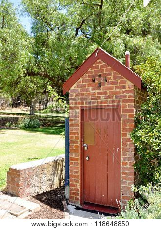 Brick Outhouse: Azelia Ley Homestead