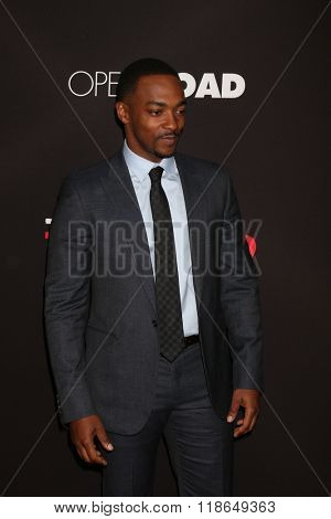 LOS ANGELES - FEB 16:  Anthony Mackie at the Triple 9 Premiere at the Regal 14 Theaters on February 16, 2016 in Los Angeles, CA