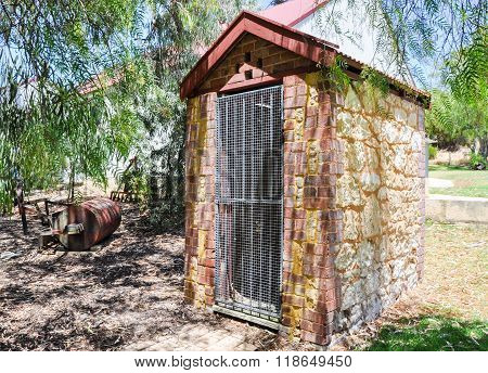 Outhouse at Azelia Ley Homestead