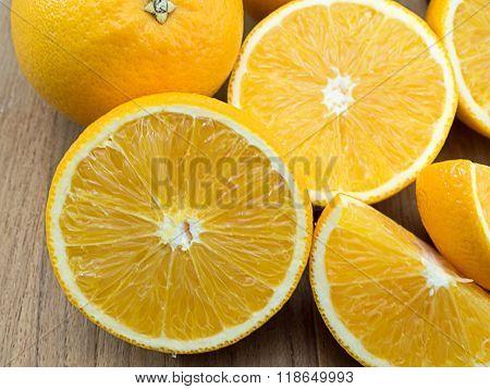 fresh lemon background from lemon sliced of lemon on a wooden background ** Note: Soft Focus at 100%, best at smaller sizes