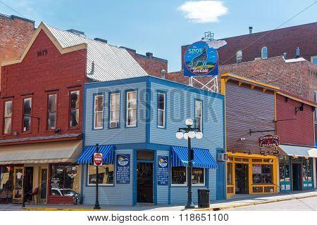 Deadwood South Dakota Street Corner
