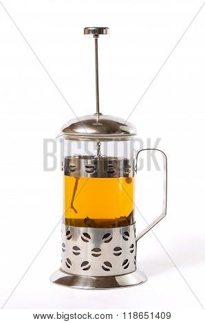 French Press With Tea