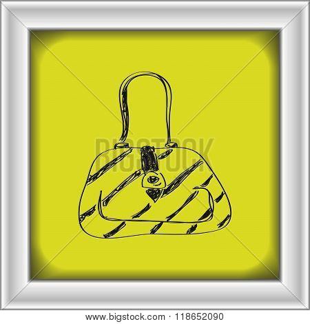 Simple Doodle Of A Handbag
