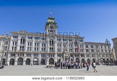 City Hall Building (comune Di Triesti) In Trieste, Italy