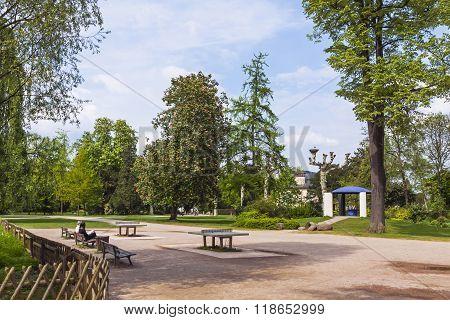 Parc De L'orangerie, A Public Park In Strasbourg City, France