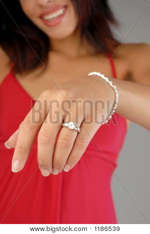 Hand With Engagement Ring