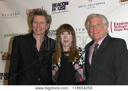 John Taylor, Mackenzie Phillips and Leonard Lee Buschel arrive at the