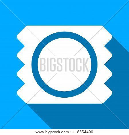 Condom Flat Long Shadow Square Icon