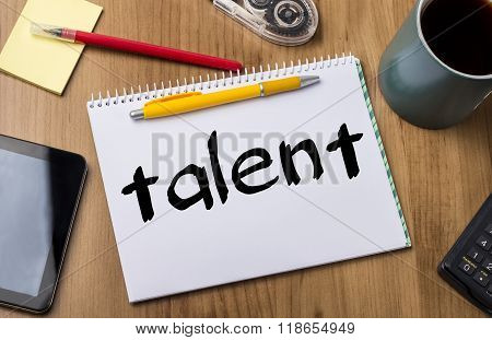 Talent - Note Pad With Text