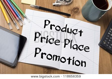 Product Price Place Promotion - Note Pad With Text