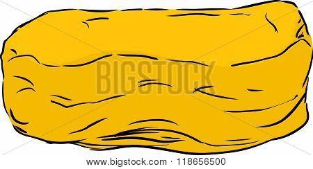 Single Yellow Mushy Pillow