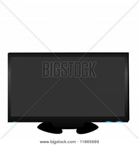 Realistic Illustration Lcd Tv