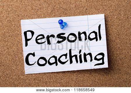 Personal Coaching - Teared Note Paper Pinned On Bulletin Board