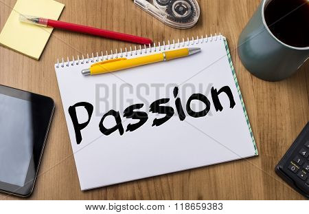 Passion - Note Pad With Text