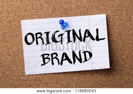 Original Brand - Teared Note Paper Pinned On Bulletin Board