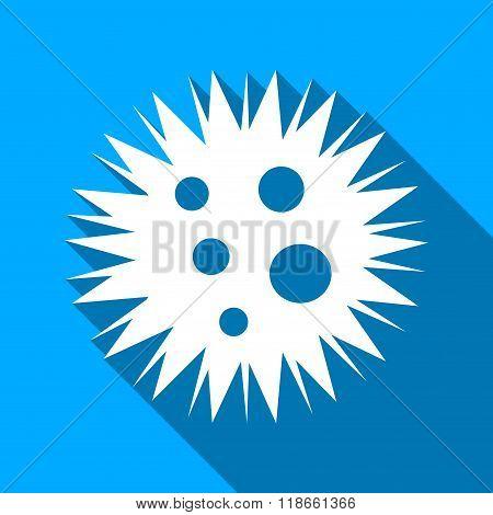 Microbe Spore Flat Long Shadow Square Icon