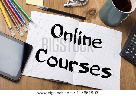 Online Courses - Note Pad With Text