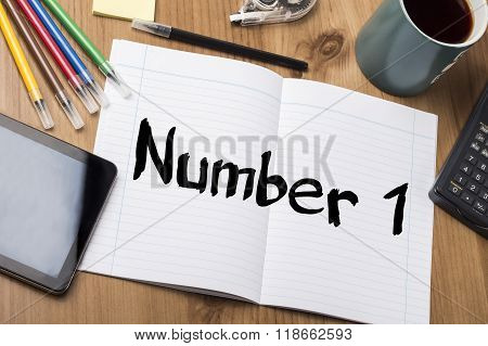 Number 1 - Note Pad With Text