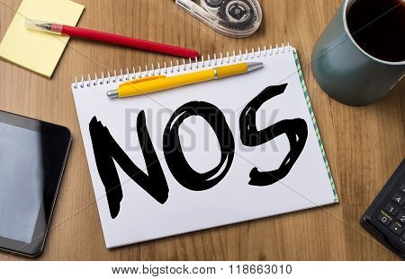 Nos - Note Pad With Text