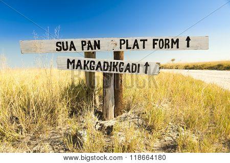 Makgadikgadi Pan Sign