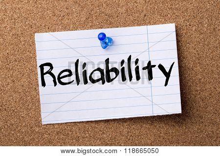 Reliability - Teared Note Paper Pinned On Bulletin Board