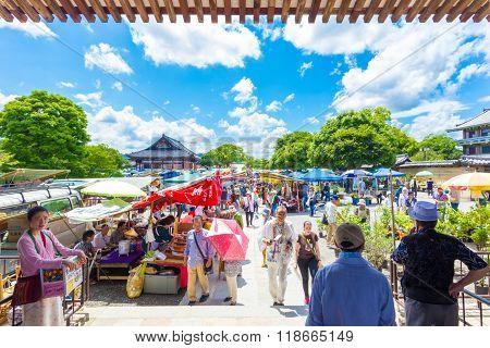 Toji Monthly Market People Stalls Shopping H
