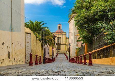 Nicolas De Ponte Street In La Orotava Town