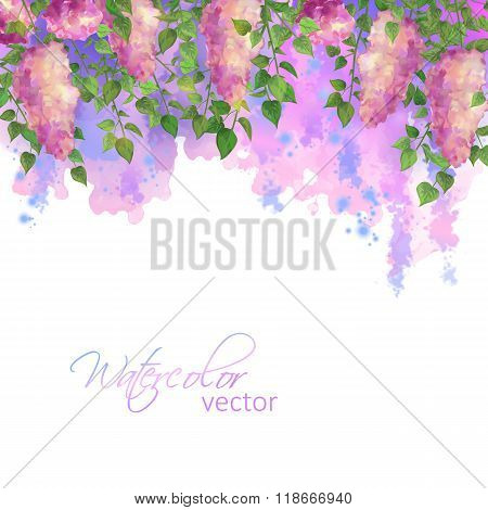 Vector Watercolor Spring