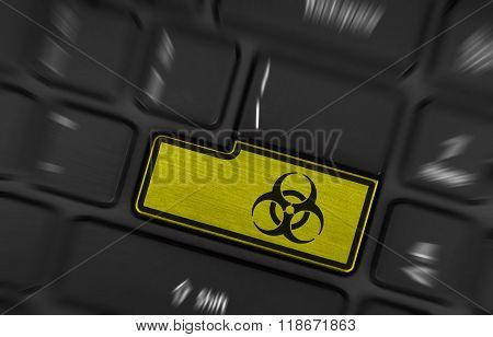 Symbol On Button Keyboard, Biohazard