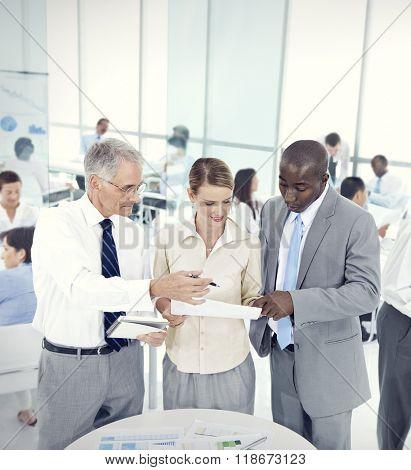 Business People Conversation Communication Talking Team Concept
