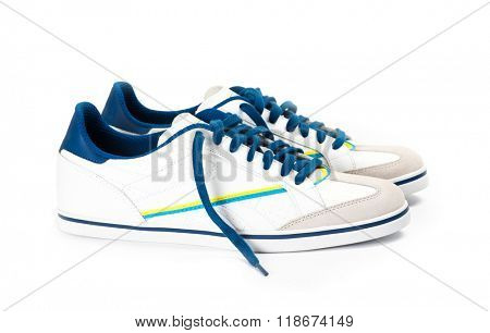 shoes pair on a white background