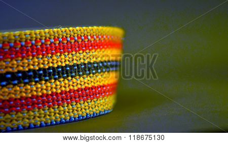picture of a brand new colorful dog collar