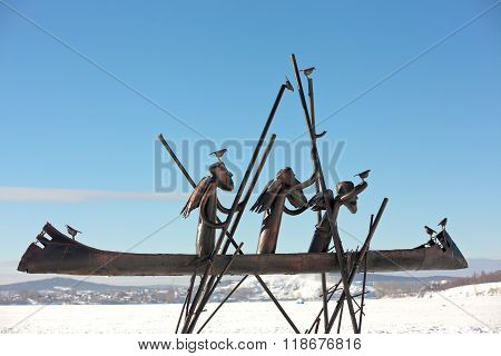 NIZHNY TAGIL, RUSSIA - FEBRUARY 16, 2016: Photo of Sculpture