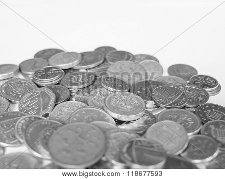 Black And White Pound Coins