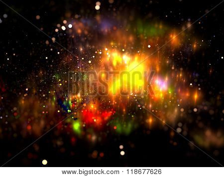 Abstract colorful blurred background digitally generated image