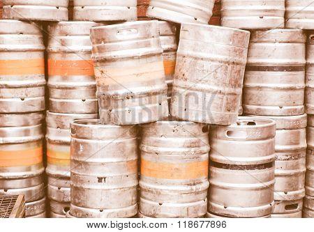 Beer Kegs Vintage