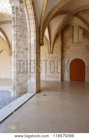 Gothic cloister of the Real Monasterio de Nuestra Sra. del Carmen, Valencia, Spain