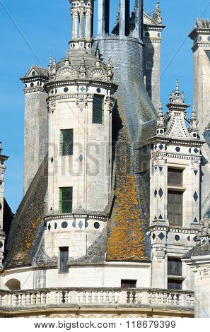 Chambord Castle, Loire Valley, France. Built as a hunting lodge for King Francois I, this castle is the largest and most frequented of the Loire Valley.