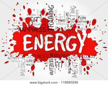 Energy Word Cloud, Fitness