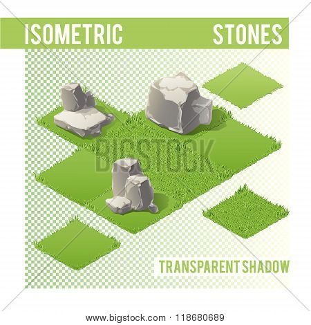 Isometric Stones and lawn