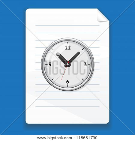 Vector temporary file on a blue background